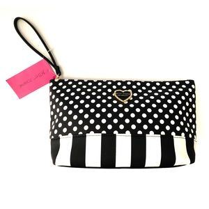 💄Betsey Johnson Cosmetic Bag Case NWT!